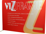VizFrame™ - Fabric graphic slipped over a lightweight tubular frame