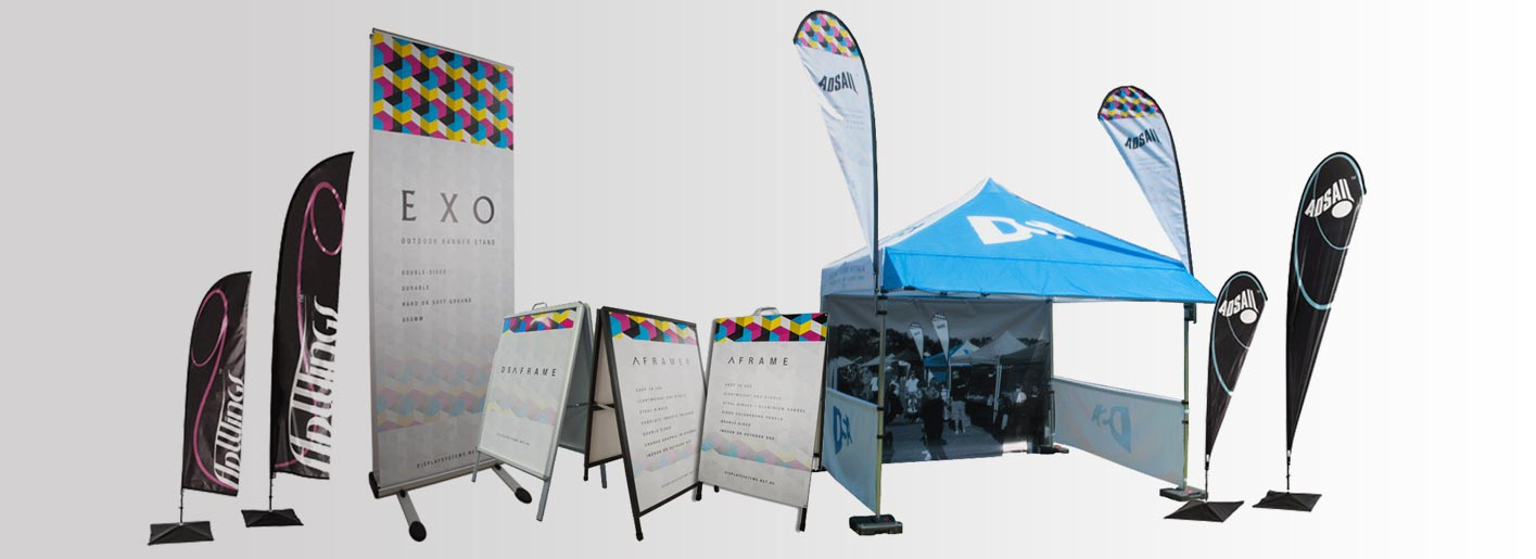 Portable Exhibition Banners : Exhibition banners display banner stands display systems australia