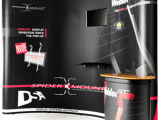 SpiderMount™ technology added to a Webloc GT™ pop-up stand