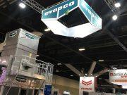 Custom hanging banner for Evapco @ ARBS Exhibition 2018